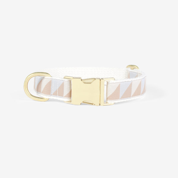 SEE SCOUT SLEEP Standard Collar M -Nice Grill- (Ice Blue x Camel x Ivory)